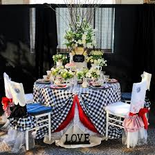 checd tablecloths for weddings