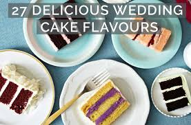 27 Deliciously Different Wedding Cake Flavours L Pink Book Weddings
