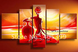 oil canvas paintings aliexpress our lovethick texture handmade modern picture