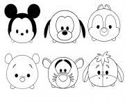 Tsum Tsum Coloring Pages Free Printable