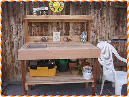 Potting Bench Plans Outdoor Potting Bench With Sink Plans Potting Bench With Sink