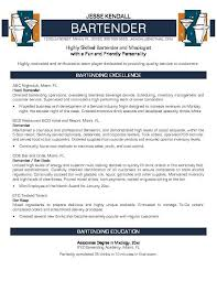 Example Bartender Resume Unique Resume Template Bartender Commily