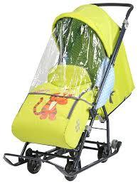 Купить <b>санки</b>-<b>коляска Ника Disney</b> baby Тигруля DB1, 3, цены в ...