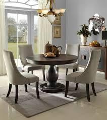 Homelegance Dandelion 5 PC Round Dining Set wPedestal in Rustic Gray
