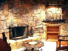 electric fireplace stone wall wall mount