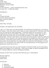 Cover Letter Architecture Architect Cover Letter Cover Letters