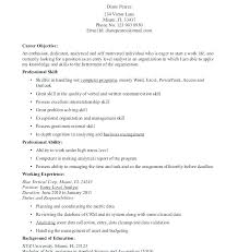 Resume Template With Objective Security Officer Resume Template Security Guard Resume Template