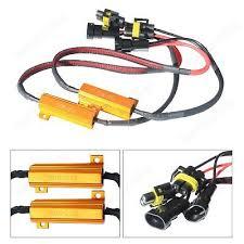 2x h8 h11 led headlight drl fog light load resistors kit wiring 2x h11 h8 50w adapter no warning error led load resistor wiring harness 6Ω ohm