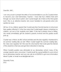 Letters Of Recommendation For Educators Samples Of Letters Recommendation For Teachers Sample Scholarship