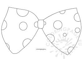 Small Picture Large clown bow tie template Coloring Page