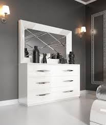 white bedroom dressers. Carmen White Double Dresser And Mirror Bedroom Dressers
