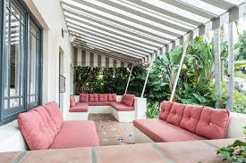 make retractable awning patio mediterranean with outdoor