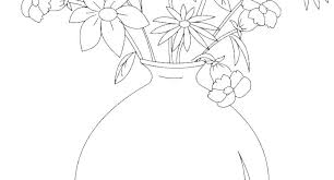 Flower Pot Coloring Pages Coloring For Babies Amvame