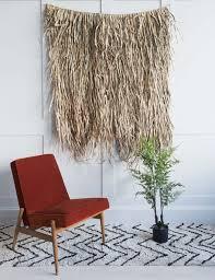 palm leaf bamboo wall decoration