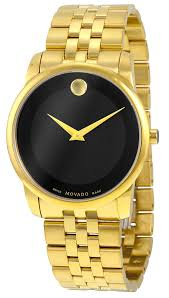 movado museum classic gold tone mens watch 0606997 movado movado museum classic gold tone mens watch 0606997