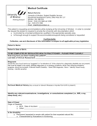 Medical Certificate University Of Windsor