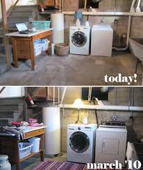 unfinished basement laundry room makeover. Image Unfinished Basement Laundry Room Makeover E
