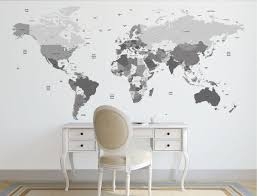 wall maps world map wall decal