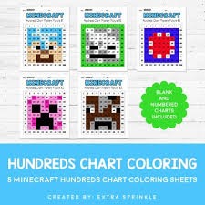 100 Chart Coloring Pages Minecraft Inspired Hundreds Chart Coloring Pages