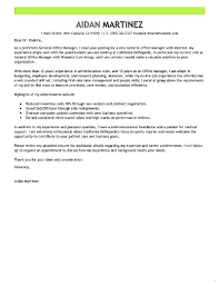 Office Manager Cover Letter Leading Professional General Examples