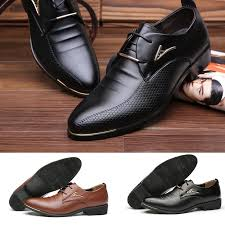 Men's <b>Business Leather</b> Flats Classics <b>Business</b> Oxfords Buckle ...