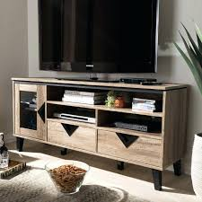 oak and black glass 55 inch tv stand modern contemporary light brown