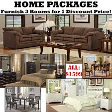 Living Room Furniture Package Deals Home Packages With 3 Rooms Of Furniture For 1 Discount Price For