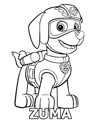 Coloring Pages Paw Patrol Zuma Paw Patrol Coloring Pages Page Sheet