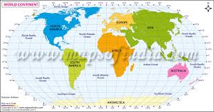 World Continent Map Continents Of The World