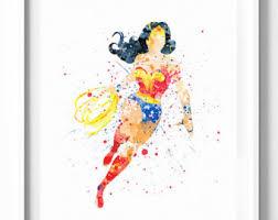 Wonder Woman Pop Art  EtsyWonder Woman Home Decor