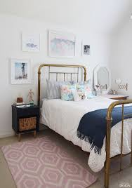 Modern vintage teen bedroom full of DiY's and cool thrifted finds. You have  got to