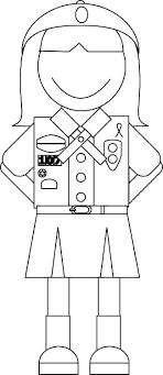 Girl Scout Promise Coloring Page Daisy Girl Scout Coloring Pages