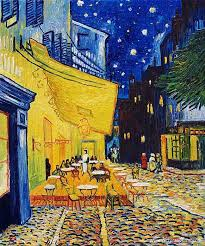 café terrace at night vincent van gogh
