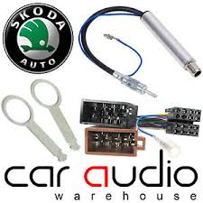 skoda octavia car radio stereo iso wiring harness amplified image is loading skoda octavia 99 04 car radio stereo iso