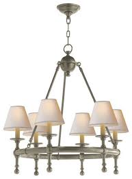 visual comfort lighting e f chapman classic 6 light chandelier