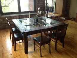 glass top dining table set 6 chairs modern glass dining table wood