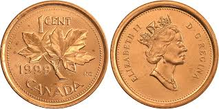 Coins And Canada 1 Cent 1999 Canadian Coins Price Guide
