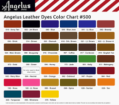 Angelus Leather Dyes Leather Dye Color Leather