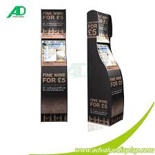 Hs Code For Display Stand Wine Bottle Box Beverage Drinking Cardboard Floor Display Stand 8