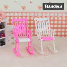 Barbie furniture for dollhouse Barbie Size Mini Doll Rocking Chair For Barbie Accessories Doll House Furniture Dollhouse Room Decoration Children Girls Toy Dealextreme Mini Doll Rocking Chair For Barbie Accessories Doll House Furniture