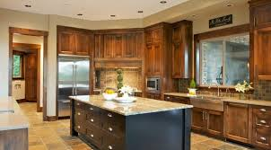 The black island isn't something you'll see in purely Craftsman kitchens,