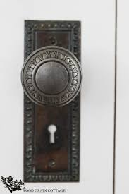 How to install a vintage door knob on a new door by The Wood Grain Cottage