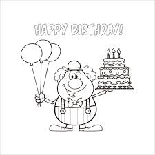 Do not limit your imagination. 9 Happy Birthday Coloring Pages Free Psd Jpg Gif Format Download Free Premium Templates