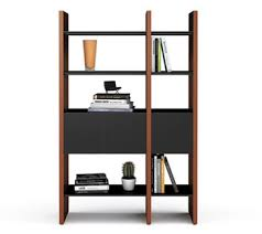semblance office modular system desk. Semblance Modular Storage System By BDI In Black And Stained Cherry #home # Office Desk