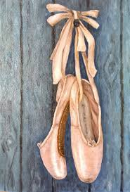 oil painting ballet pointe shoes
