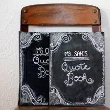 how to make a chalkboard covered journal- DIY teacher gift