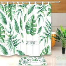 palm leaf shower curtain green leaf shower curtain summer green leaves shower curtain tropical plants printing