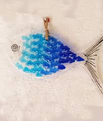 fused glass fish hangers creative cone