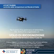 Coronavirus Roma, ad Ostia un drone per misurare la temperatura ai bagnanti