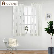 Napearl 1 Stück Qualität Nähen Bereit Maß Kurze Fenster Vorhänge Für
